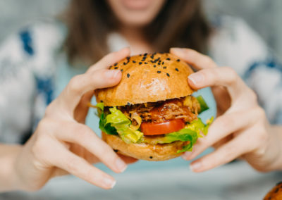 Nadšení z burgeru